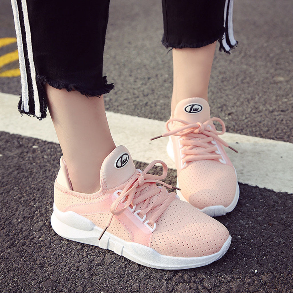 78 A Casual Mode Femmes Zapatillas b c Solide Respirant Mujer Chaussures Sport Sneakers Dentelle Modis Jusqu'à qFO7xqf