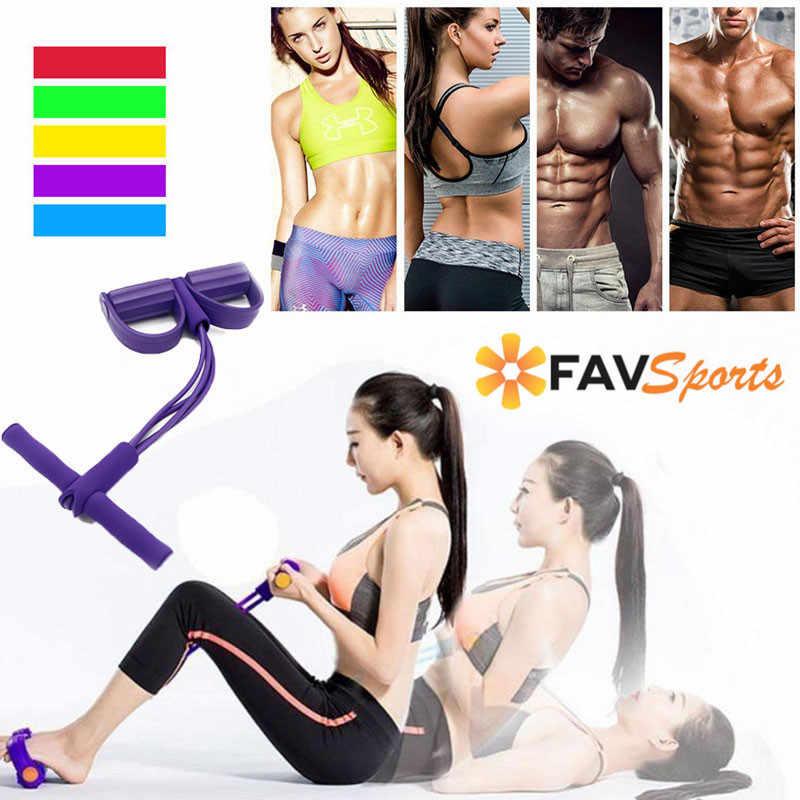 4 rura Fitnessr odporność zespoły dla mężczyzn kobiety sit-up ciągnąć liny lateksowe pedał nożny wytrzymałość trainer sprzęt Fitness