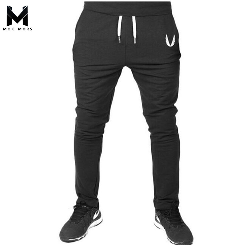 Men Joggers Fall 2018 New Han Edition Embroidery Mens Sweatpants Leisure Cultivate One's Morality Pants Men's Trousers