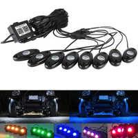 Kaya Bluetooth Çok Renkli Neon LED Iç Araba aydınlatma kiti Su Geçirmez Romantik Atmosfer Işıkları ATV SUV Araç Tekne