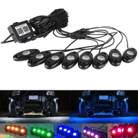 Rock Bluetooth Multicolor Neon LED Interior Car Lighting Kit Waterproof Romantic Atmosphere Lights for ATV SUV Vehicle Boat