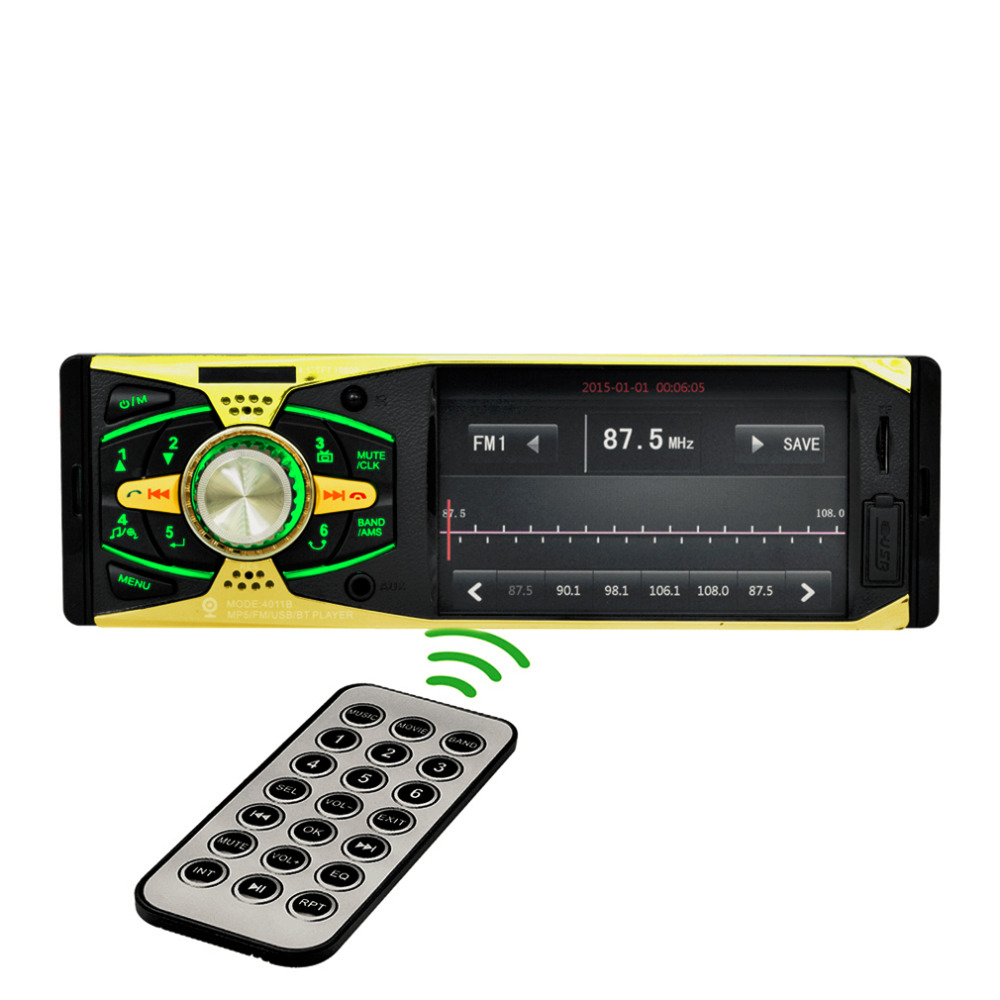 2017 new 4.1 Inch 1 Din Car MP3 MP5 Player Video Radio Player FM USB SD AUX Ports With Remote Control HD Display Audio Player