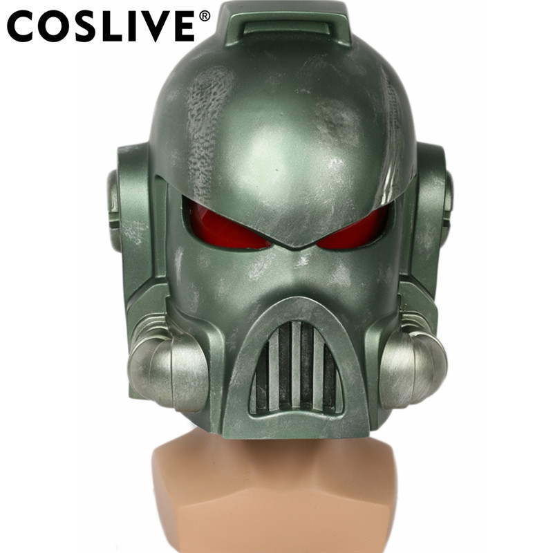 Coslive Warhammer 40k Helmet Game Cosplay Props Cool Green