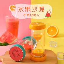 Creative cute fruit hourglass ornaments, resin childrens anti-fall decorations birthday gift