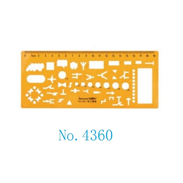 Electrical Engineering Drawing Drafting Template Stencil No.4360