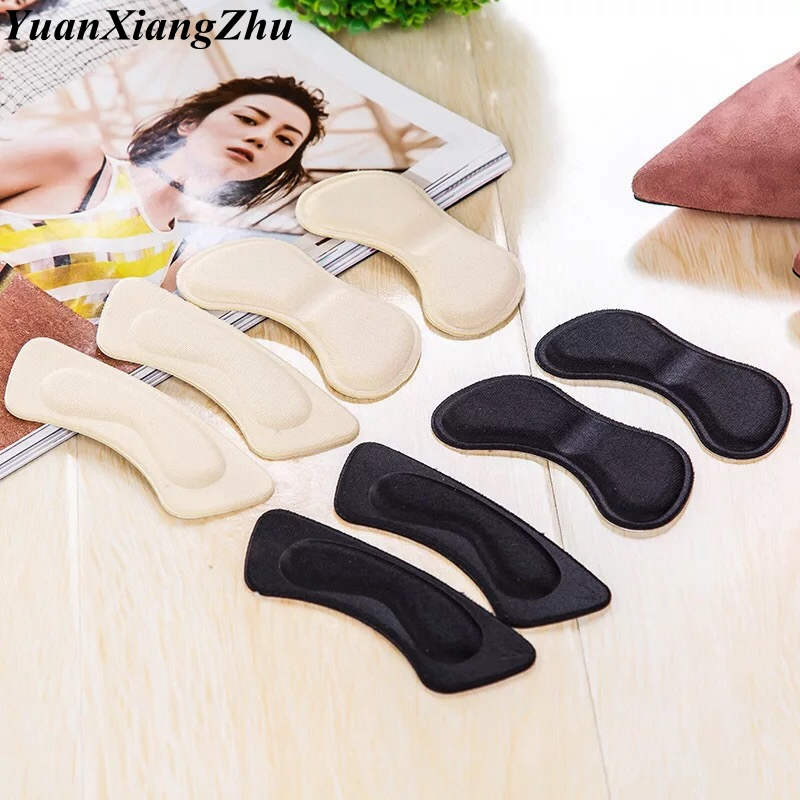 2 Pair High Quality Sponge Invisible Back Soft Heel Pads For High Heel Shoes Grip Adhesive Liner Cushion Insert Pads Insoles