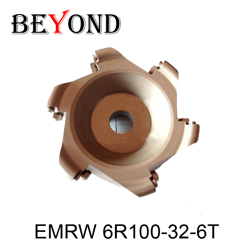EMRW 6R100-32-6T,emrw Round Nose Surface Nc Cutter, Cnc Milling Cutter.face Cutter Head cnc router router bit trs 5r50 22 4t round nose surface nc cutter cnc milling cutter face cutter head use insert is rdmt10t3