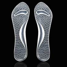 2Pcs=1Pair Silicone Gel Insole Of Flatfoot Arch Support Cushion Pads Orthopedic Protector Insoles For Shoes Massage Gel Pads