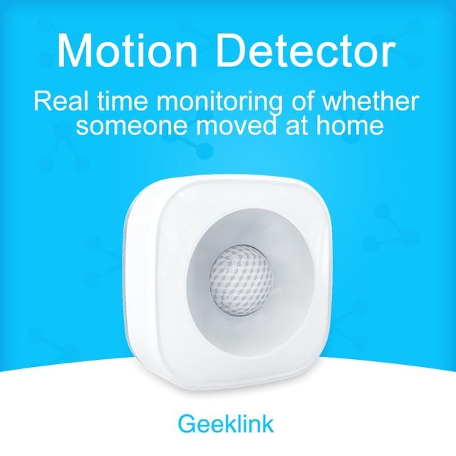 Geeklink Sensor de movimiento inalámbrico gran angular Detector de cuerpo infrarrojo Pir Sensor Geeklink Thinker Control remoto Smart Home