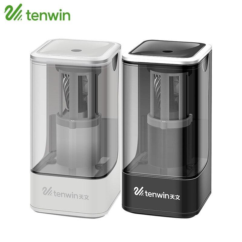 Tenwin sacapuntas eléctrico alta calidad electrónico automático y un agujero enchufe en uso Seguridad para niños 8006