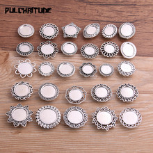 Making-Supplies Blank Leather Cord Cabochon-Setting Beads Diy Bracelets Silver Antique