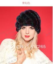 Бесплатная доставка Кролик волосы шляпа леди зима расстроен теплую шапку модной женщины hat 100% Норки меховая шапка R53