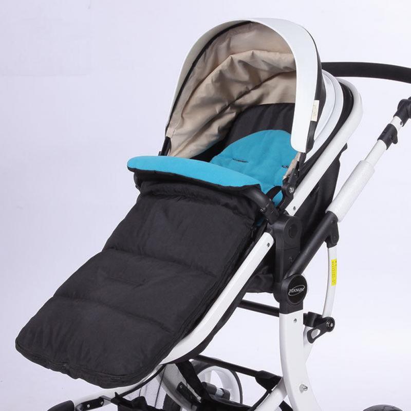 Inverno Envelope Saco De Dormir carrinho de Bebê Recém-nascidos quentes Crianças Grosso tampa do pé para pé muff Infantil stroller pram cadeira de rodas