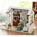 Doll House Furniture Miniatura DIY Doll Houses Miniature Dollhouse Wooden Handmade Toys For Children Birthday Gift Miniature Toy