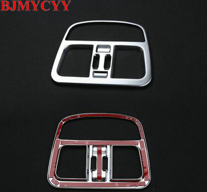 BJMYCYY For Maserati Levante 2016 Car-Styling ABS Chrome Rear Air Conditioning Outlet Vent Frame Cover Trim Accessories 1pc epr car styling for nissan 370z z34 frp fiber glass front bumper air duct set fiberglass air vent accessories racing trim