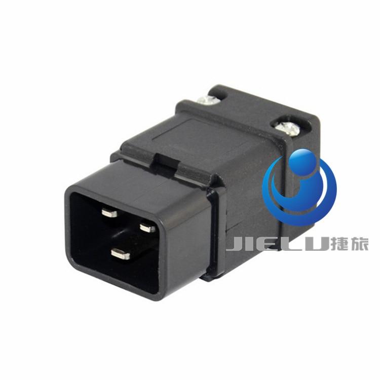 6A 250VAC C20 male connector IEC 320 Power Cable Cord C20 rewireable 3 pins plug,50 pcs