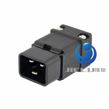 Black UPS Rewirable IEC320 C20 Male Plug Power Cable Cord Adapter Connector,1 pcs