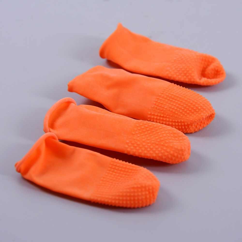 Protectores de dedos de látex de seguridad de 50 piezas/cunas/puesto para la Unión de extensiones de cabello