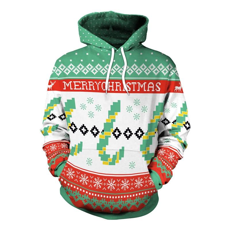 Christmas hoodies gift accessories casual loose long sleeve Men Woman hoodie 3D Funny cartoon print hoodie men WGWY105