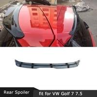 Carbon Fiber / ABS Rear Roof Spoiler Back Window Wings for Volkswagen VW Golf 7 7.5 VII MK7 MK7.5 Spoiler GTI R Rline 2014 2019