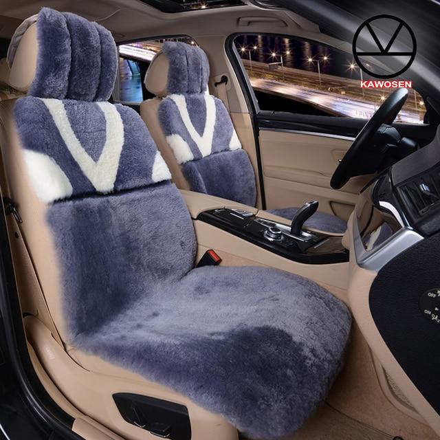 KAWOSEN Australian Sheepskin Seat Cover Pure Natural Wool Car Whole Fur