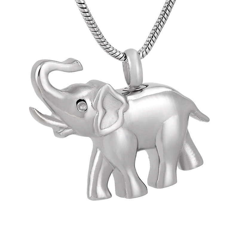 5,10,20,50 PCS Lots Wholesale Stainless Steel Elephant Cremation Pendant Keepsake Memorial Urn Necklace for PetAniaml Ashes