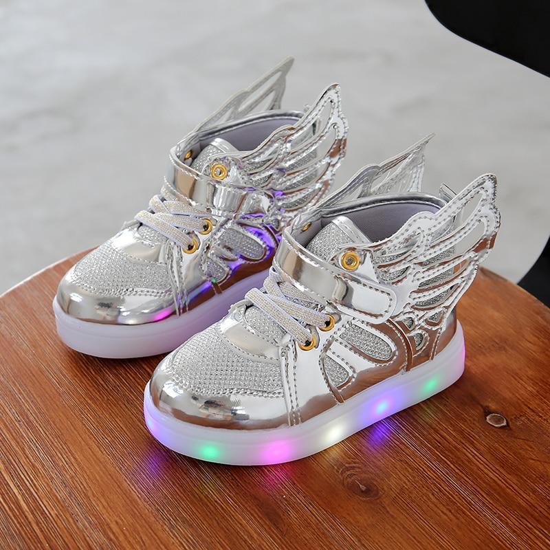 2017 m. Rudens vaikai LED šviečiantys batai žėrintis ženklas - Vaikiški batai
