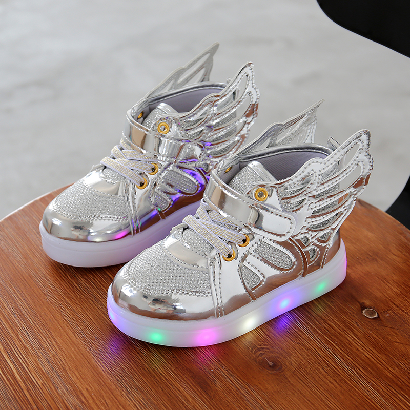 2017 Kanak-kanak Autumn LED Sneakers bercahaya Glowing Brand - Kasut kanak-kanak