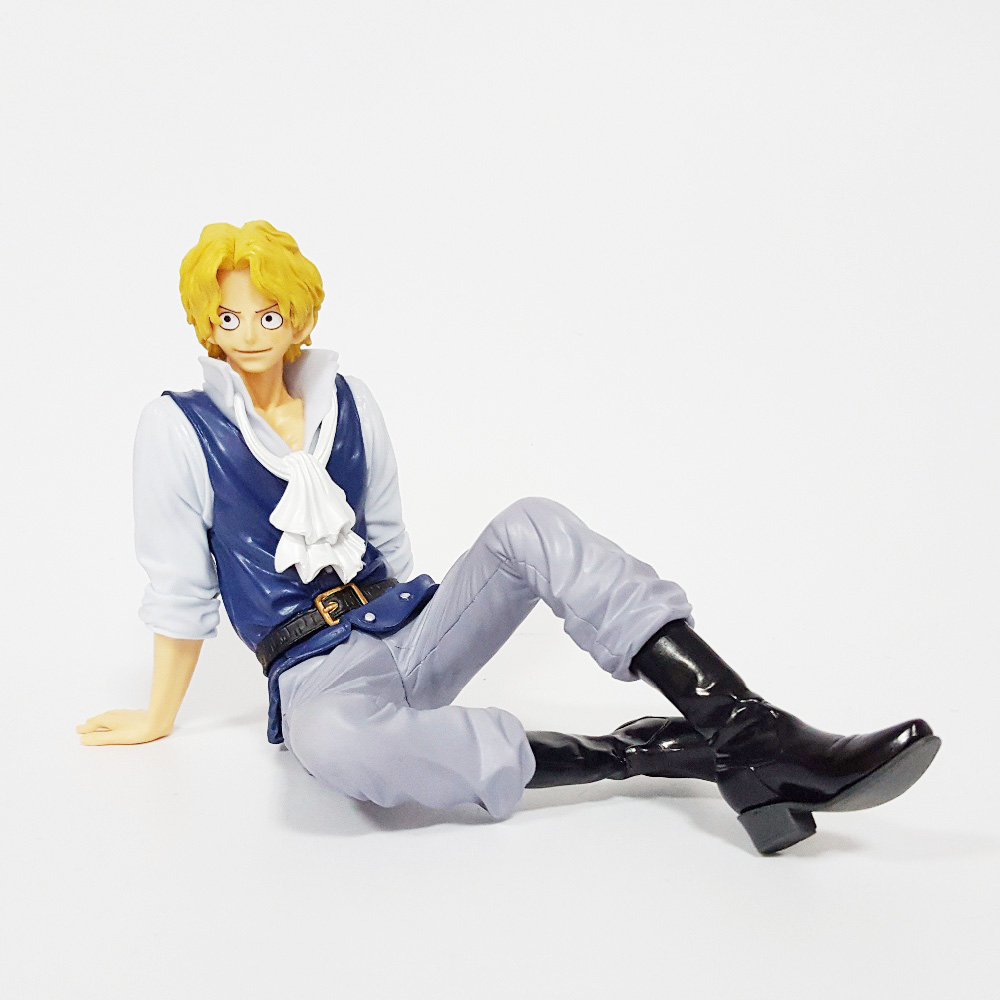 Tobyfancy One Piece Anime Sabo Sitting PVC Action Figures Onepiece Sabo Collectiable Model Toy 120mm