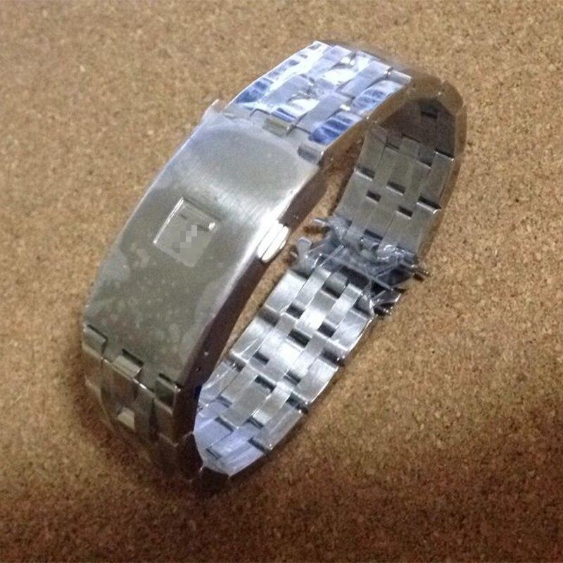 Hohe Qualität 19mm 20mm PRC200 T17 T461 T014430 T014410 Armband Uhr Teile männlichen streifen Solide edelstahl armbänder Straps