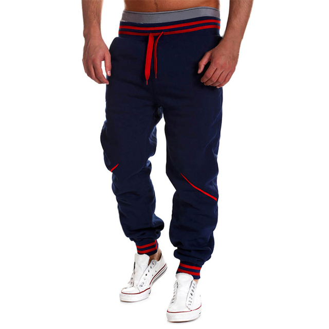 2017 New Men Causal Long Pants Loose Sportwear Bottoms Drawstring Cross Pants Hip Hop High Waist Trousers Sweatpants