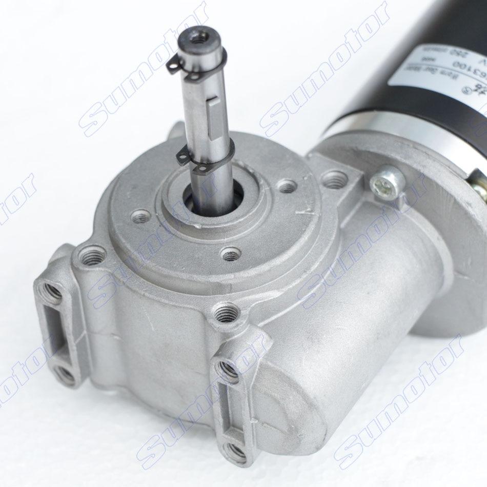 Gw63100 250rpm Dc 24v 250ncm Worm Gear Reducer Electric