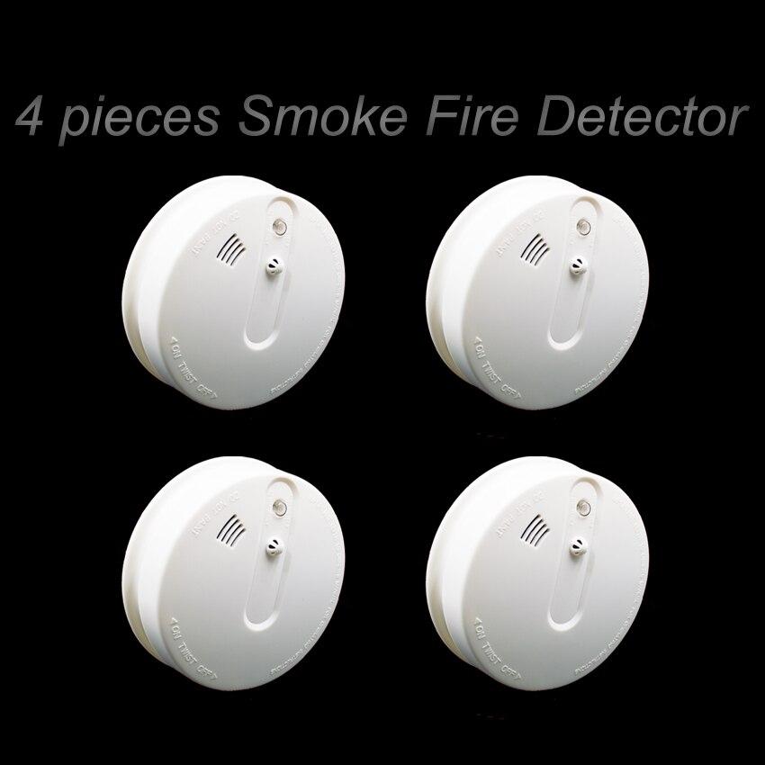 wireless smoke temperature detector 433mhz smoke alarm heat alarm for home alarm system in. Black Bedroom Furniture Sets. Home Design Ideas