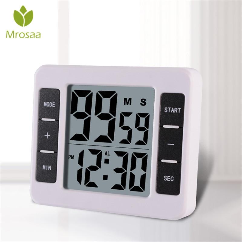 Elektrische Digital Küche Timer Multifuntional Kochen backen Werkzeug Magnetträger Stehen mit Großen LCD-Display Uhr