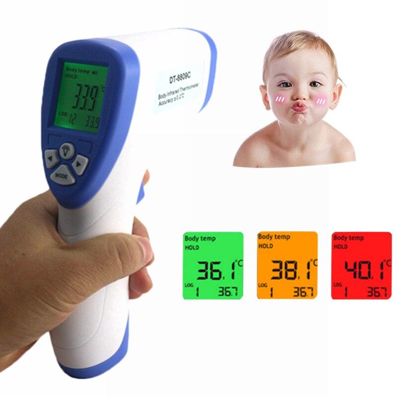Bambino Adulto Termometro IR Senza contatto digitale A Infrarossi Fronte LCD Gun Temperatura Meter 32 ~ 43C/90-109.4F