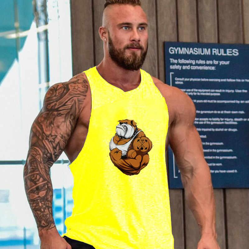 Joe שבע דרקון הדפסת כותנה ללא שרוולים חולצות גופייה גברים כושר חולצה mens פיתוח גוף גופיית אימון חדר כושר אפוד כושר