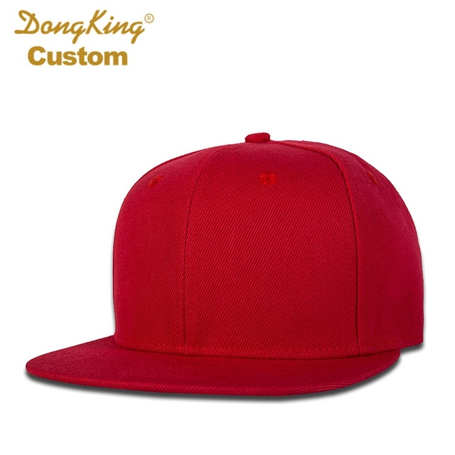 033a2196d23 DongKing Custom Snapback Hat Acrylic Baseball Cap Flat Visor Embroidery 6  Panels Hats Adult Kids Personalized Gifts Team Caps