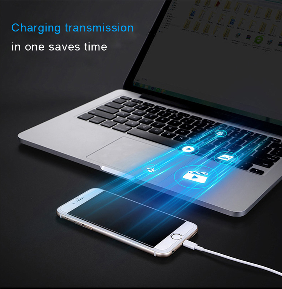 NOHON 2.4A Sync USB Fast Charger Cable 8 Pin Lighting For iPhone X XS MAX XR Charging Data Cable For iphone 8 7 6S 5 Plus 1M 3M  (9)