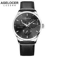 Swizterland AGELOCER Criativas Homens Relógio Marca Automático Relógio Ocasional Design Europeu Power Reserve 42 Horas Relogio Masculino Relojes