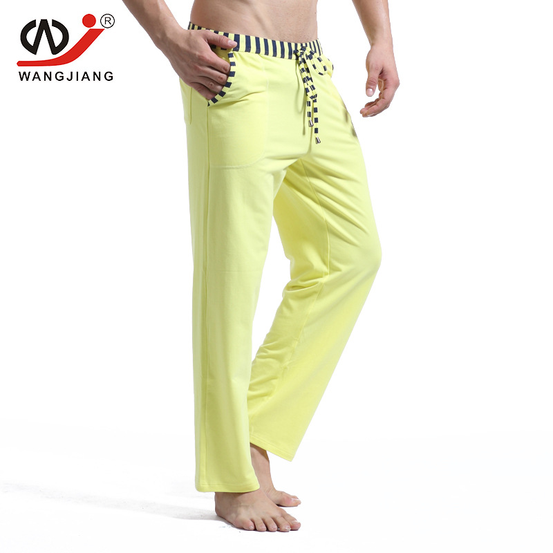 Sleepwear Male Soft Warm Cotton Pants Home Comfortable Sleep Long Bottoms Mens Sleep Shorts Elastic Waist Simple Style Casual