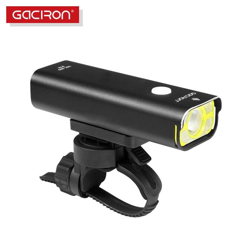 Gaciron professionnel vélo head light 800 lumens intégré 18650 2500 mAh rechargeable batterry IPX6 étanche accessoires vélo