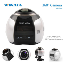 4K 360 Camera Wifi Mini 360 Degree Sports Action Camera 2448*2448 Ultra HD Panorama Sport Driving VR Camera