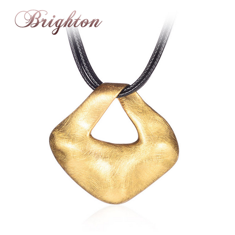 Brighton 2018 new unisex jewelry multilayer black leather brushed brighton 2018 new unisex jewelry multilayer black leather brushed irregular square choker necklaces statement punk pendants in pendant necklaces from aloadofball Gallery