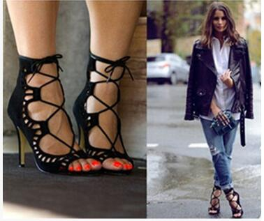 ФОТО 2017   mature sexy women sandals cross tied shoes cover strap thin heels fashion slip on sandals well matched clothes shoes