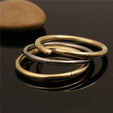 5pc Meetee Snap O Ring Clip Buckle Stainless Steel Brass Creative Keychain Book Loose Hinge DIY Leather Craft Bag Strap Accessor