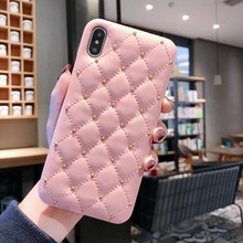 GT Leather Luxury Small Fragrant Case For iPhoneX XS XR MAX 8Plus 8 7Plus 7 6 6S 6SPlus With Rivets Phone Shell Cover Fundas