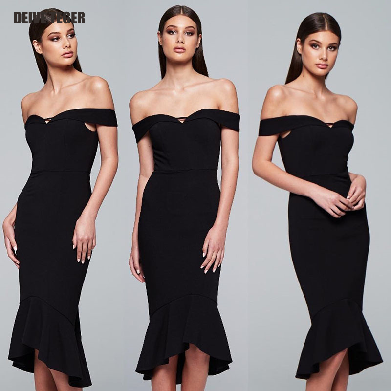 New Women Bandage Dress Red Black Apricot Slash Neck Celebrity Party Dress 2018 Elegant Bodycon Dresses Vestidos de festa