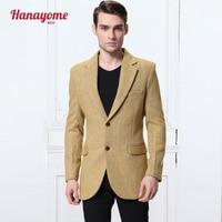 2016 New Yellow 100 Wool Herringbone Retro Gentleman Style Suits Tailor Suit Jacket Business Dress Suit