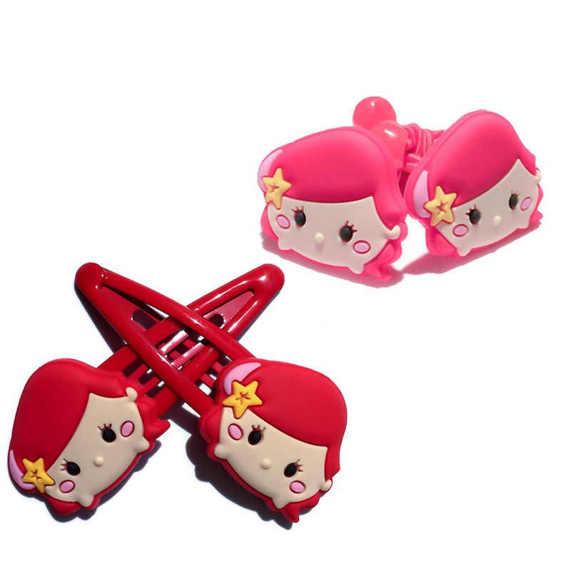 4 stks/partij Mickey Minnie Meisjes Haarbanden Clips Zachte Stof Cartoon Meisjes Haarspeldjes Hoofddeksels Haaraccessoires Haarspelden Kids Geschenken