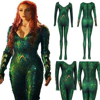 Nuevo disfraz de Aquaman Mera queen zentai para niños y mujeres
